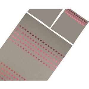 Madura Square - Parure de lit gris clair - violet