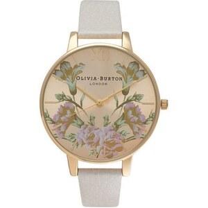 Montre Olivia Burton Parlour Mirror Floral - Mink and Gold