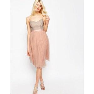 Needle & Thread - Coppelia - Verziertes Ballerina-Tüllkleid - Dust Peach