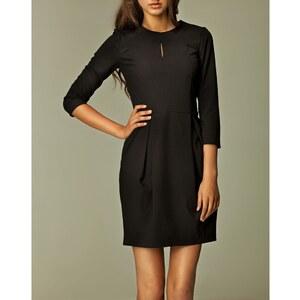 Nife Kleid mit 3/4 Ärmeln - schwarz
