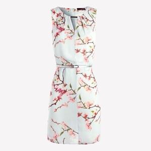 La City Kleid mit fließendem Schnitt - weiß