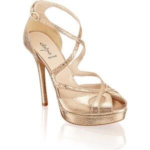 Glattleder-Sandalette Alisha gold