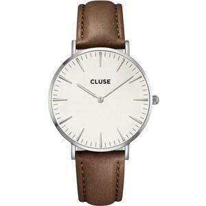 Montre Cluse La Bohème Silver White/Brown