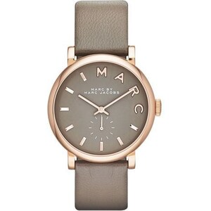 Montre Marc Jacobs Baker - Cuir Taupe et Rose Gold - 36 mm