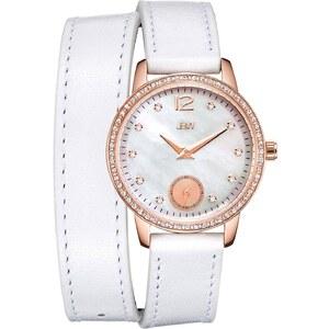 JBW Savannah - Uhr mit Lederarmband und Diamanten - weiß