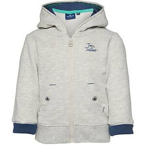 TOM TAILOR Baby Boys - sweat jacket with ears Sweat-Jacke mit Kapuze für Babies (unifarben, langärmlig mit Kapuze und Reißverschluss zum Schließen) aus reiner Ba