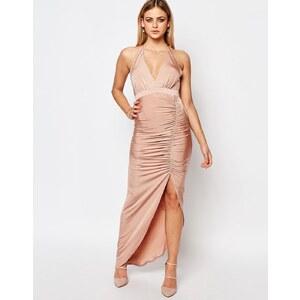 Ariana Grande for Lipsy - Robe froncée dos nu près du corps - Rose