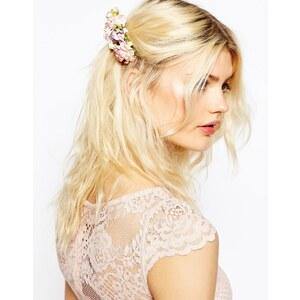 ASOS - Haarkamm mit Papierblumen - Rosa