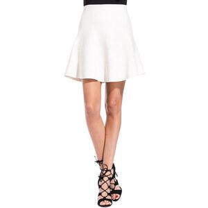 ROBERTO COLLINA cream white knit wide skirt