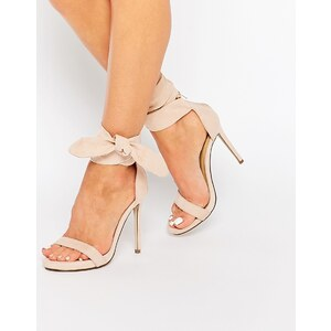 Missguided Knot - Barely There - Sandales à talons - Beige