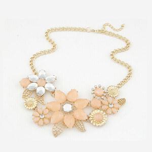 Lesara Florale Statement-Halskette - Beige