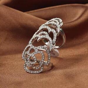 Lesara Großer Statement-Ring - Silber
