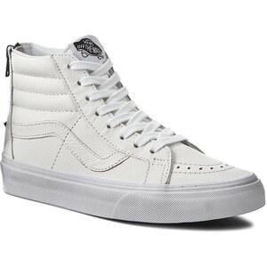 Sneakers VANS - Sk8-Hi Reissue Zip VN0004KYII9 Tr Wht/Blk (Premium Lthr)