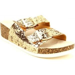 Sandale Compensée Dorée LAÏLA - Cendriyon