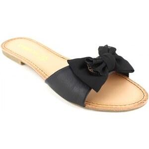 Sandale Noire Satinée RICHNA - Cendriyon
