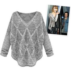 Lesara Pull tricoté avec col en V
