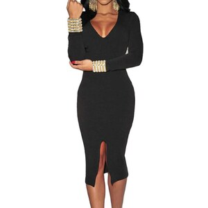 Chic Dresses Robe crayon - noir