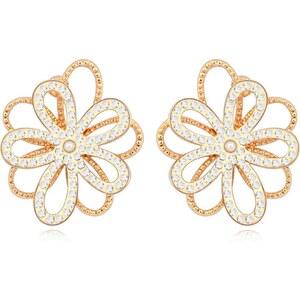 Cristal Bohème Goldplattierte Ohrringe - mehrfarbig