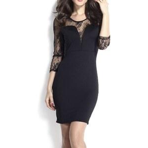 Flora Luna Kleid mit geradem Schnitt - schwarz