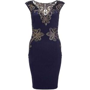 Flora Luna Kleid mit geradem Schnitt - marineblau