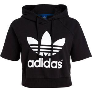 adidas Originals T-Shirt CROP HOODIE schwarz