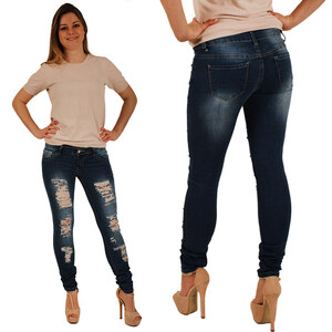 Lesara Jeans destroyed design 5 poches