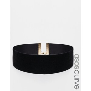 ASOS CURVE - NIGHT - Collier ras de cou en velours - Noir