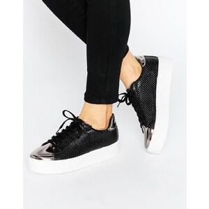 ASOS - DEFINITELY - Baskets à lacets - Noir