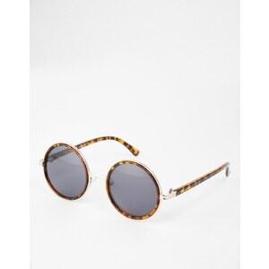 ASOS - Runde Sonnenbrille in Schildpatt- und Goldoptik - Braun