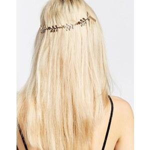 Monki - Haarschmuck mit Blattdesign - Blattgold