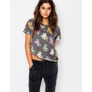 Pull&Bear - T-shirt motif mon petit poney - Multi