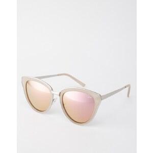Quay Australia - Every Little Thing - Katzenaugensonnenbrille mit rosa Gläsern - Rosa