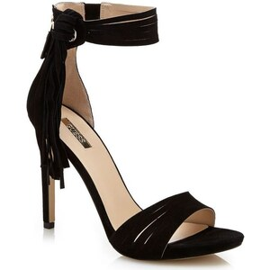 Sandalen Sandalette Aida aus Leder mit Fransen FLAID2SUE03 von Guess
