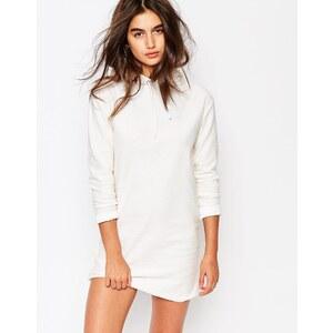 Missguided - Sweat-Kleid mit Kapuze - Weiß