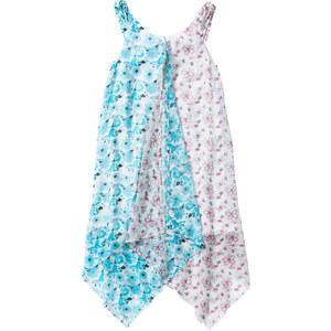 bpc bonprix collection Robe base en pointe à imprimé floral, T. 116-170 blanc sans manches enfant - bonprix