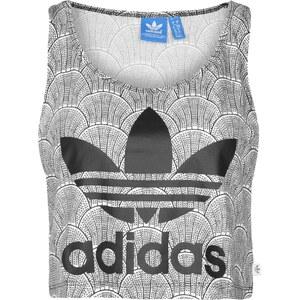 adidas Shell Tile Cropped Logo W Tanktop white