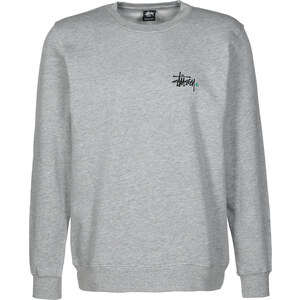 Stüssy Basic Logo Crew sweat grey heather