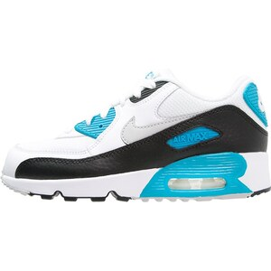 Nike Sportswear AIR MAX 90 Sneaker low white/neutral grey/black/blue lagoon