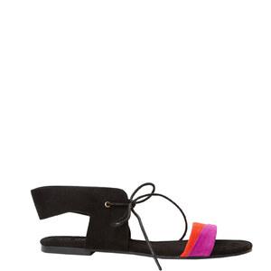 Sandales plates en suédine Etam