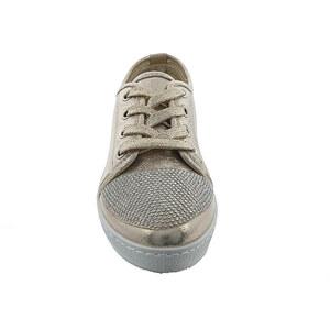 Lesara Sneaker in Metallic-Optik mit Strass - Gold - 37