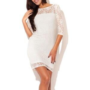 Katrus Kleid mit geradem Schnitt - naturweiß