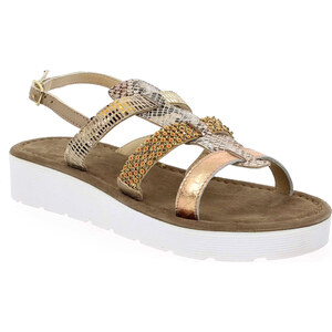 Soldes - Sandales et nu-pieds Coco et Abricot V0294 Doré Femme