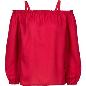 BODYFLIRT Must-Have: Schulterfreie Bluse langarm in rot von bonprix