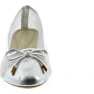 Lesara Ballerina im Netz-Design - Silber - 36