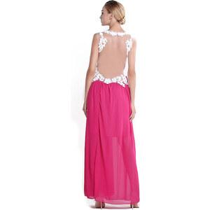 Lesara Abendkleid mit Spitzendetails am Rücken - Rot - S