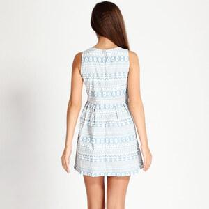 Lesara Ärmelloses Kleid mit Raffung - Blau - M