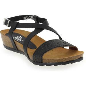 Sandales et nu-pieds Femme Yokono en Cuir Noir
