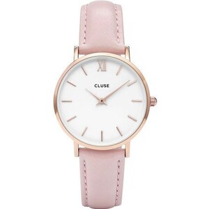Montre Cluse Minuit Rose Gold White/Pink