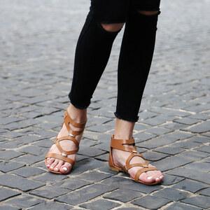 Lesara Sandales nu-pieds avec empiècements dorés