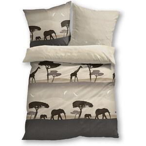 bpc living Bettwäsche Afrika, Linon in beige von bonprix